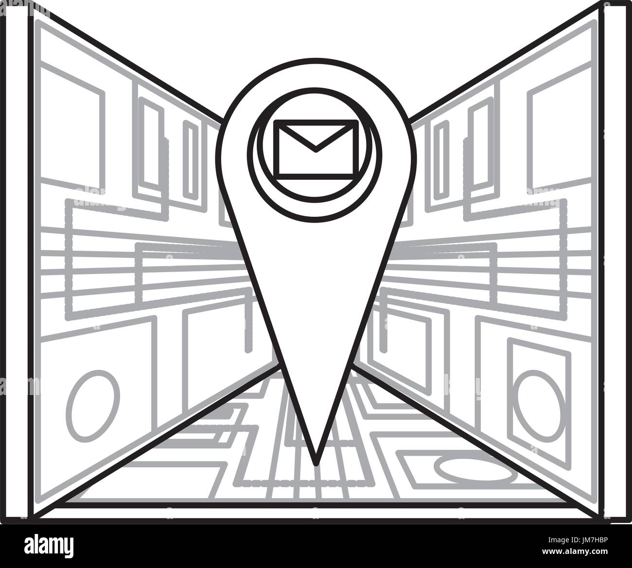 Map pin location - Stock Vector