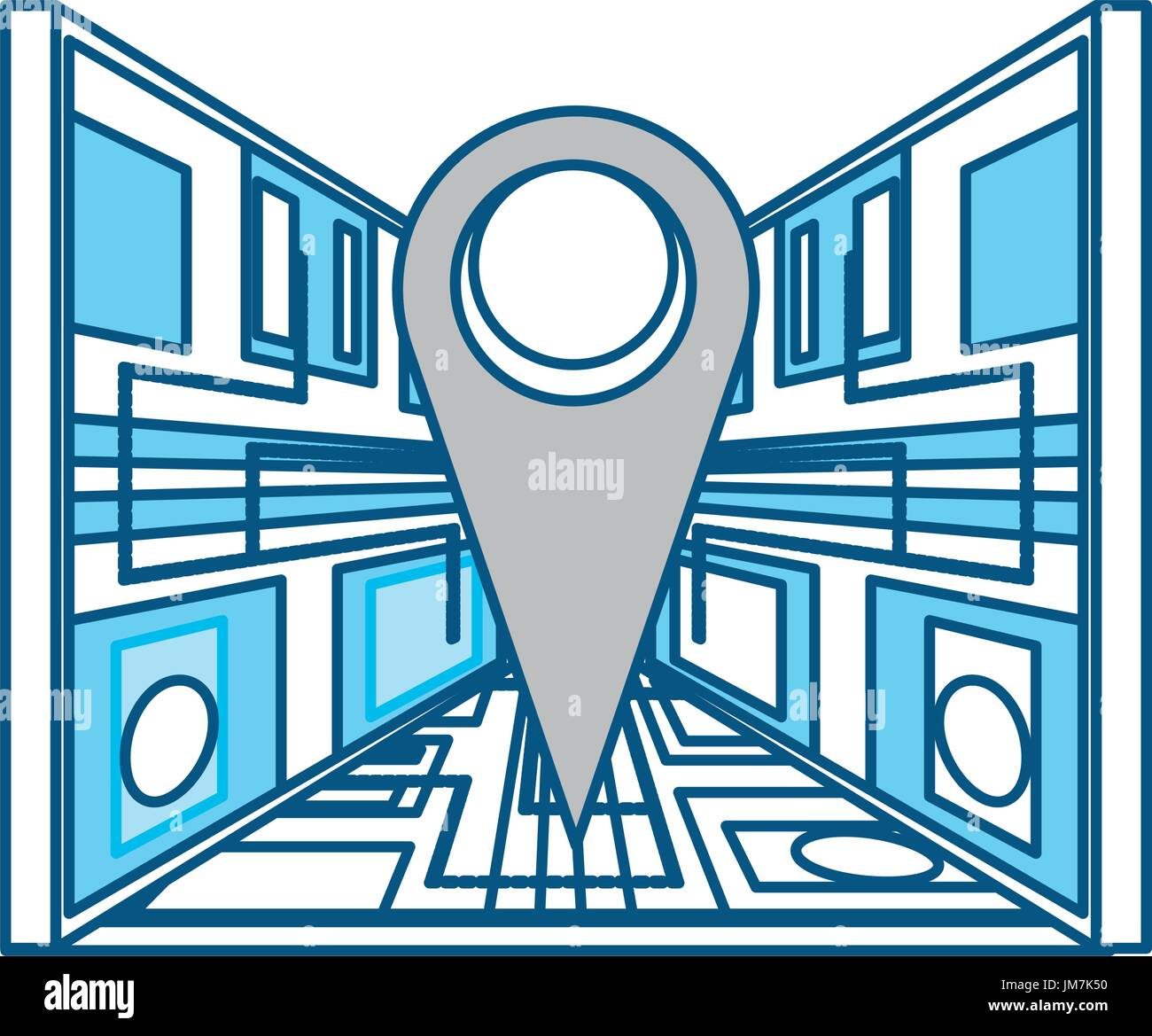 Map pin location Stock Vector