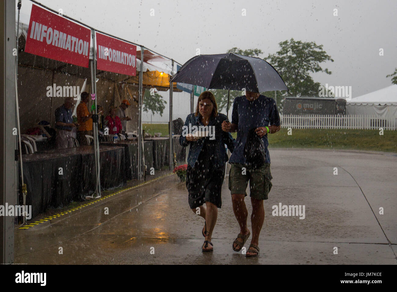 Under an umbrella - Stock Image
