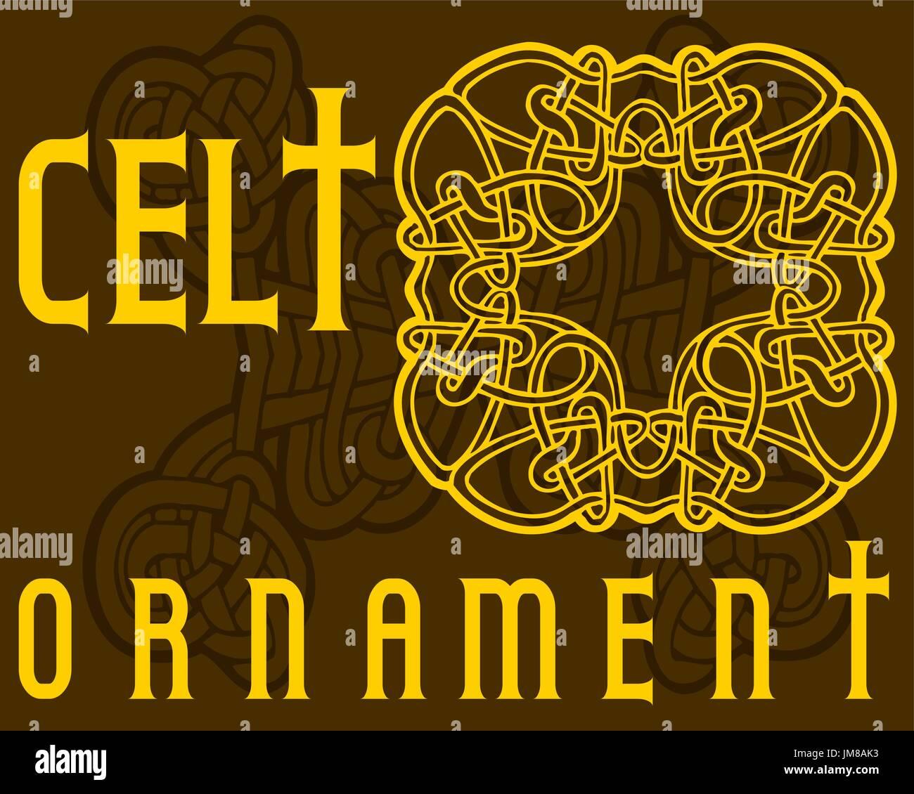Decorative Celtic ornament for your designs - Stock Vector
