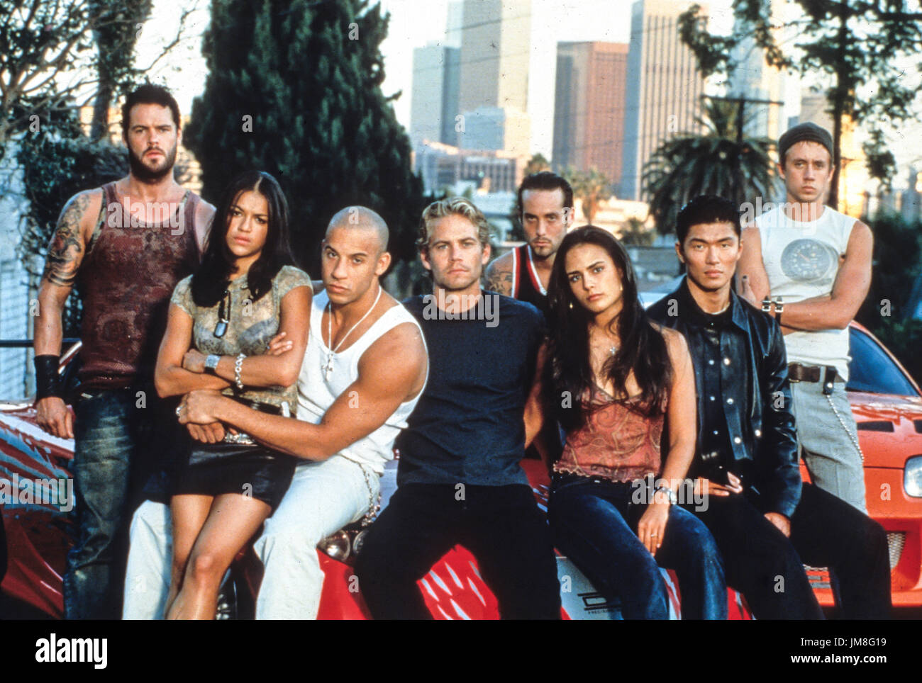 fast and the furious, cast, 2001 - Stock Image
