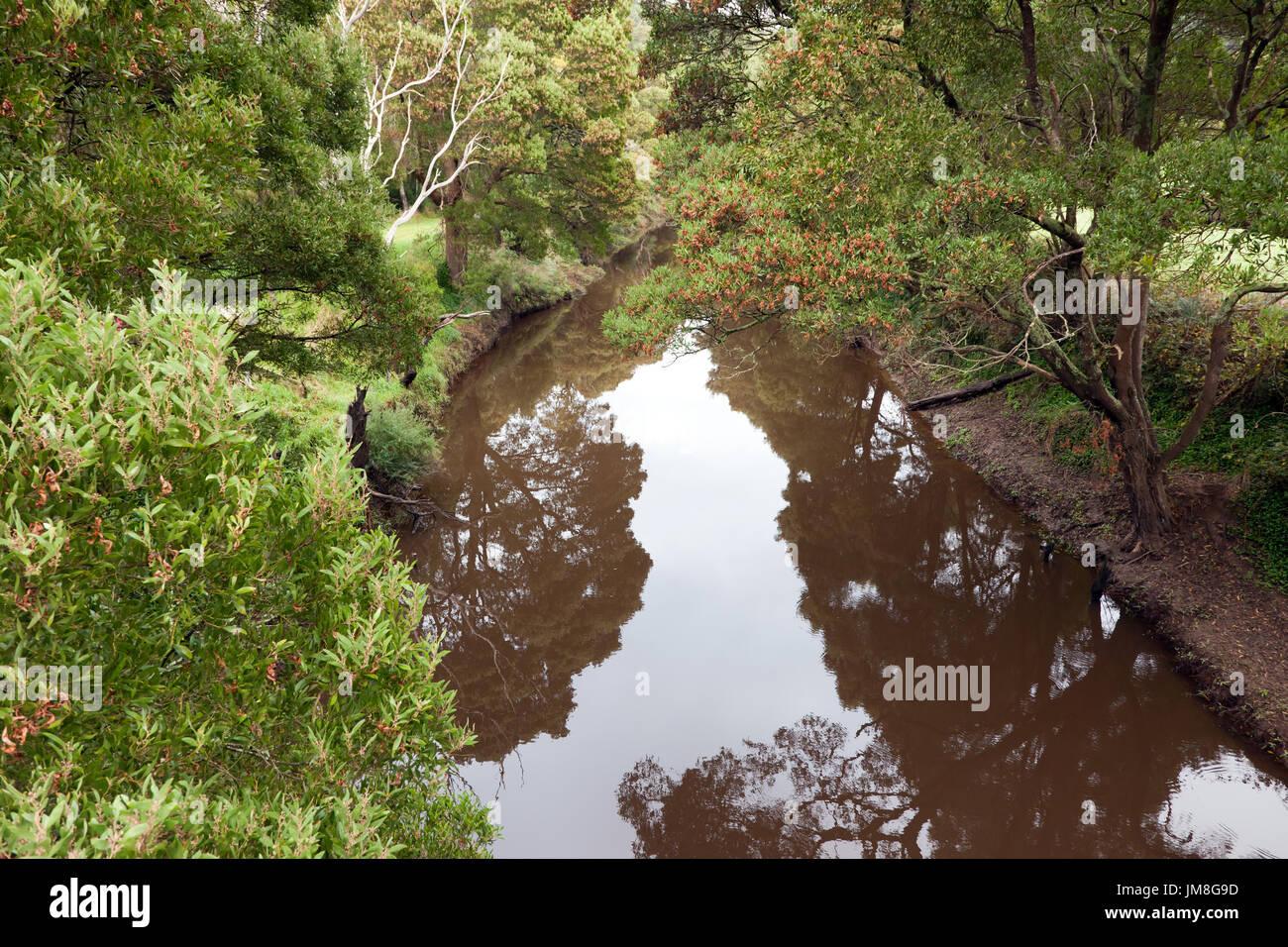 View of the Gellibrand River,  Great Ocean Road,  Victoria, Australia - Stock Image