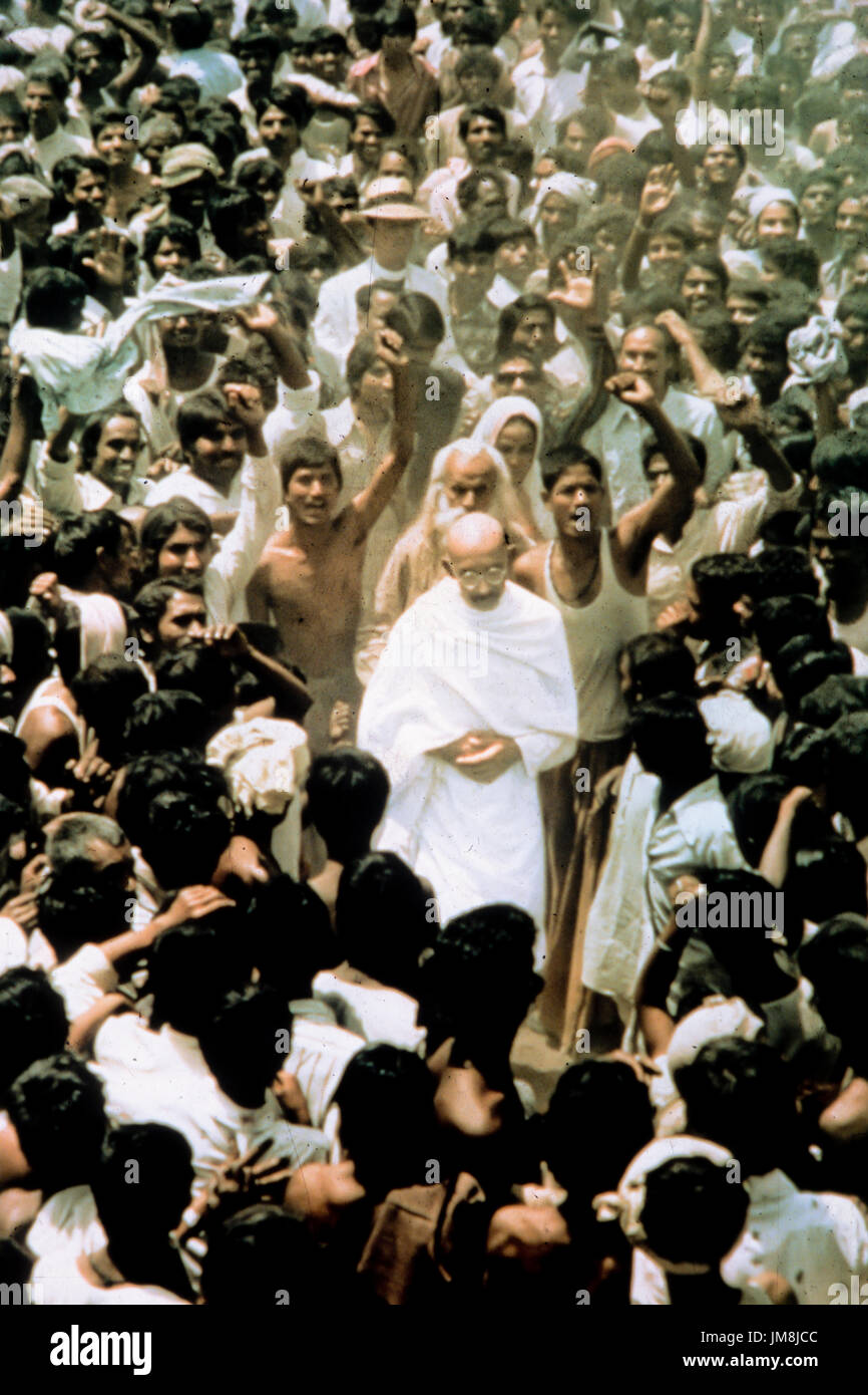ben kingsley, gandhi, 1982 - Stock Image