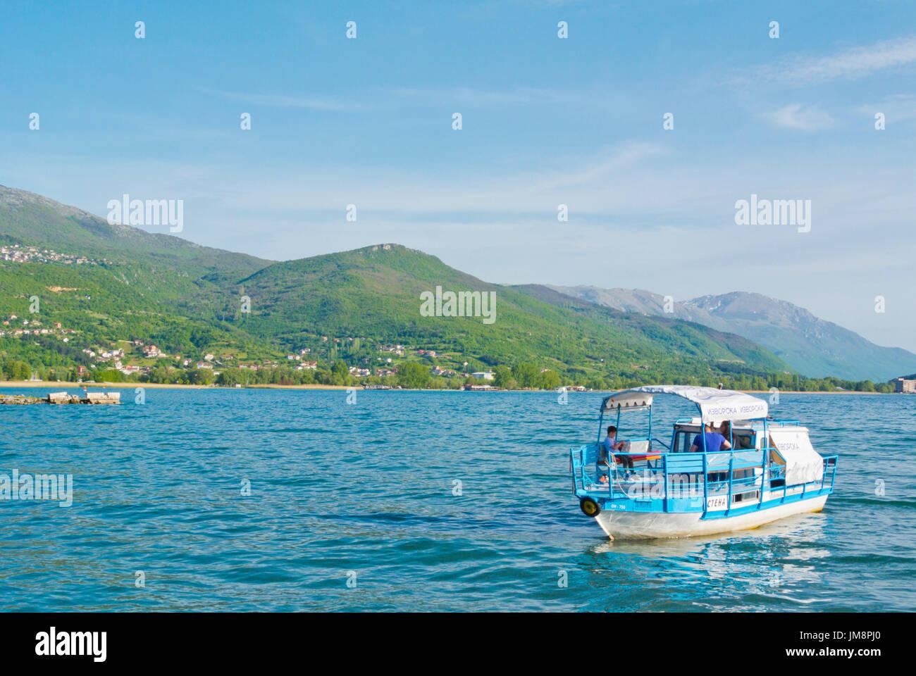 Cruise boat, Ohrid, Macedonia - Stock Image