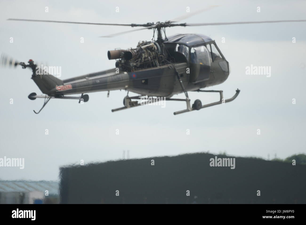 vintage British military helicopter - Stock Image