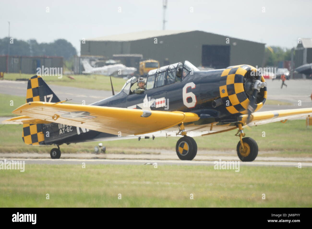 North American Aviation T-6 Texan, American single-engined WW2 advanced trainer aircraft - Stock Image