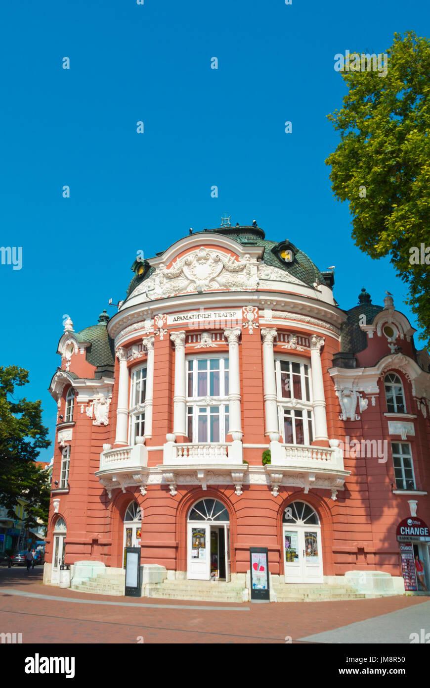 Drama Theatre Stoyan Bachvarov, Ploshtad Nezavisimost, Varna, Bulgaria - Stock Image