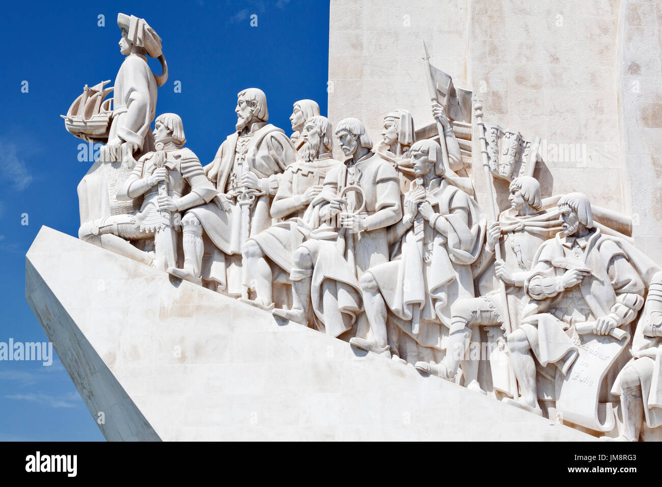 The Monument to the Discoveries in Belem, Lisbon. - Stock Image