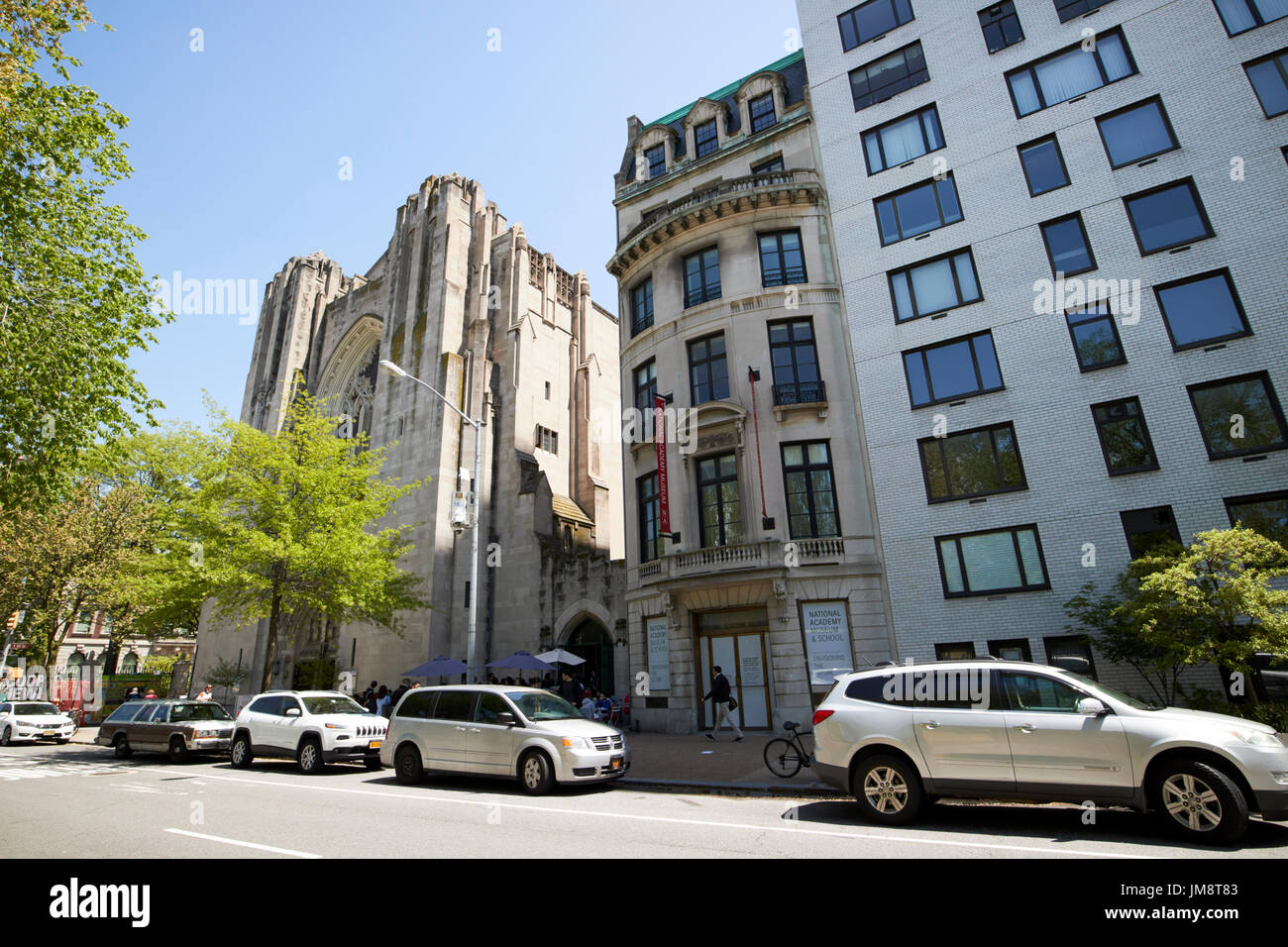 archer milton huntington residence national academy museum and school building and church of the heavenly rest New York City USA - Stock Image