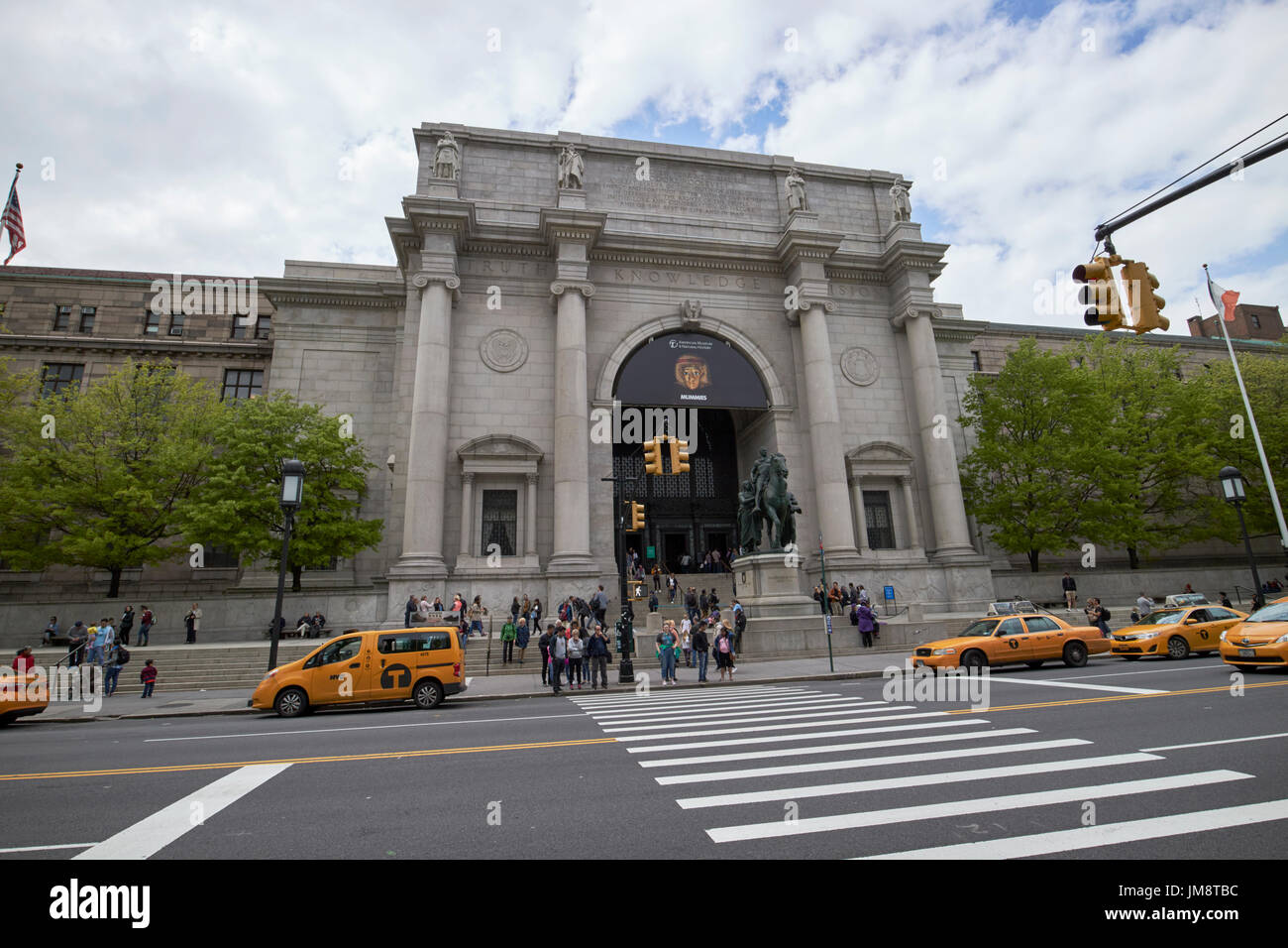 American Museum of Natural History building New York City USA - Stock Image