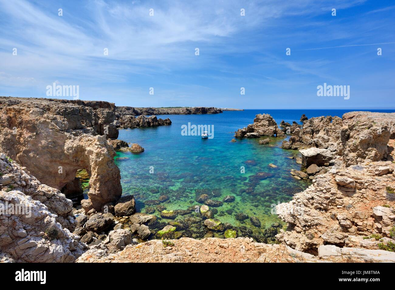 Punta des Nou Covus Na Macaret Menorca Minorca Spain - Stock Image