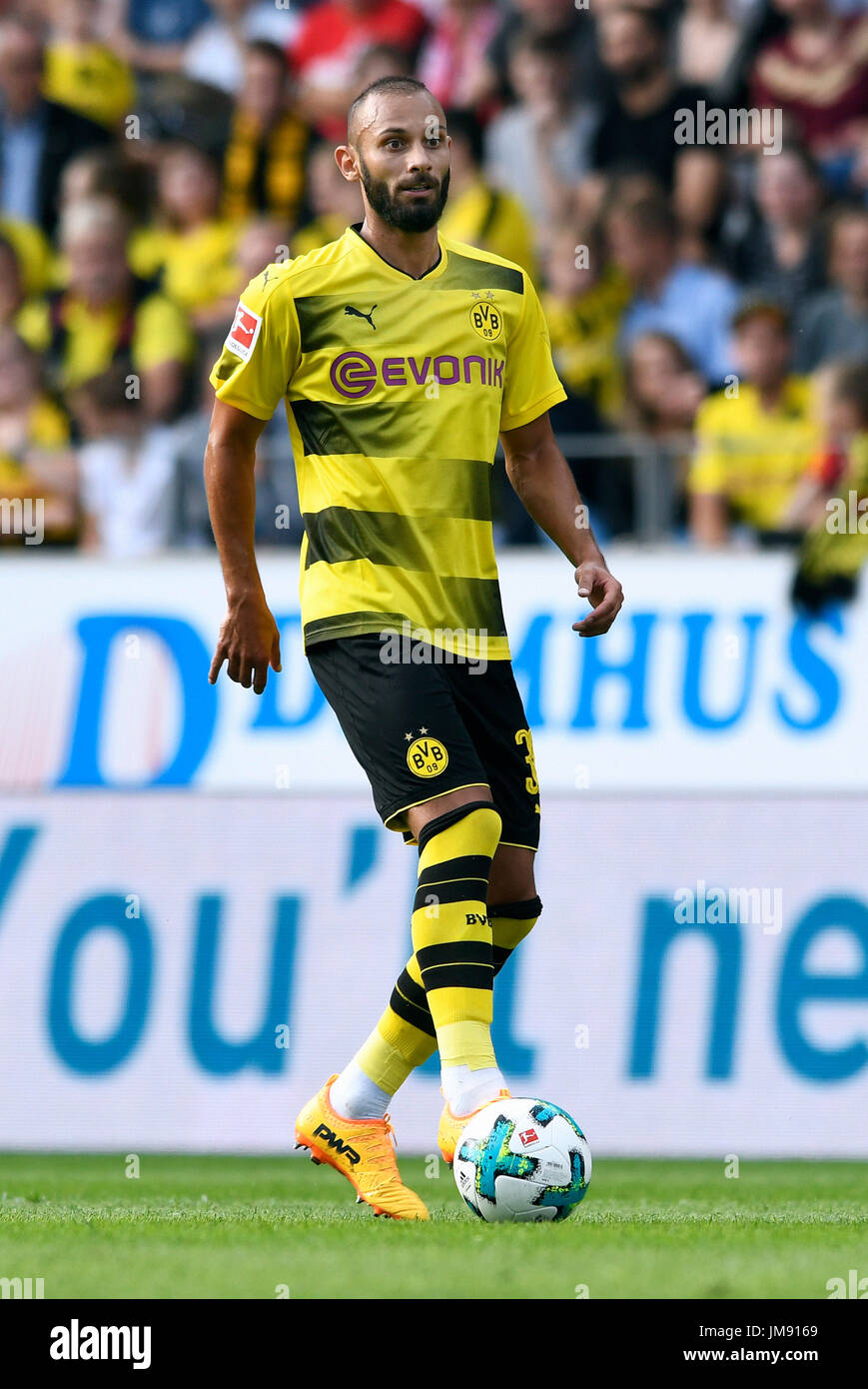 Friendly match, Rot-Weiss Essen vs Bor. Dortmund; Oemer Toprak from Borussia Dortmund. - Stock Image
