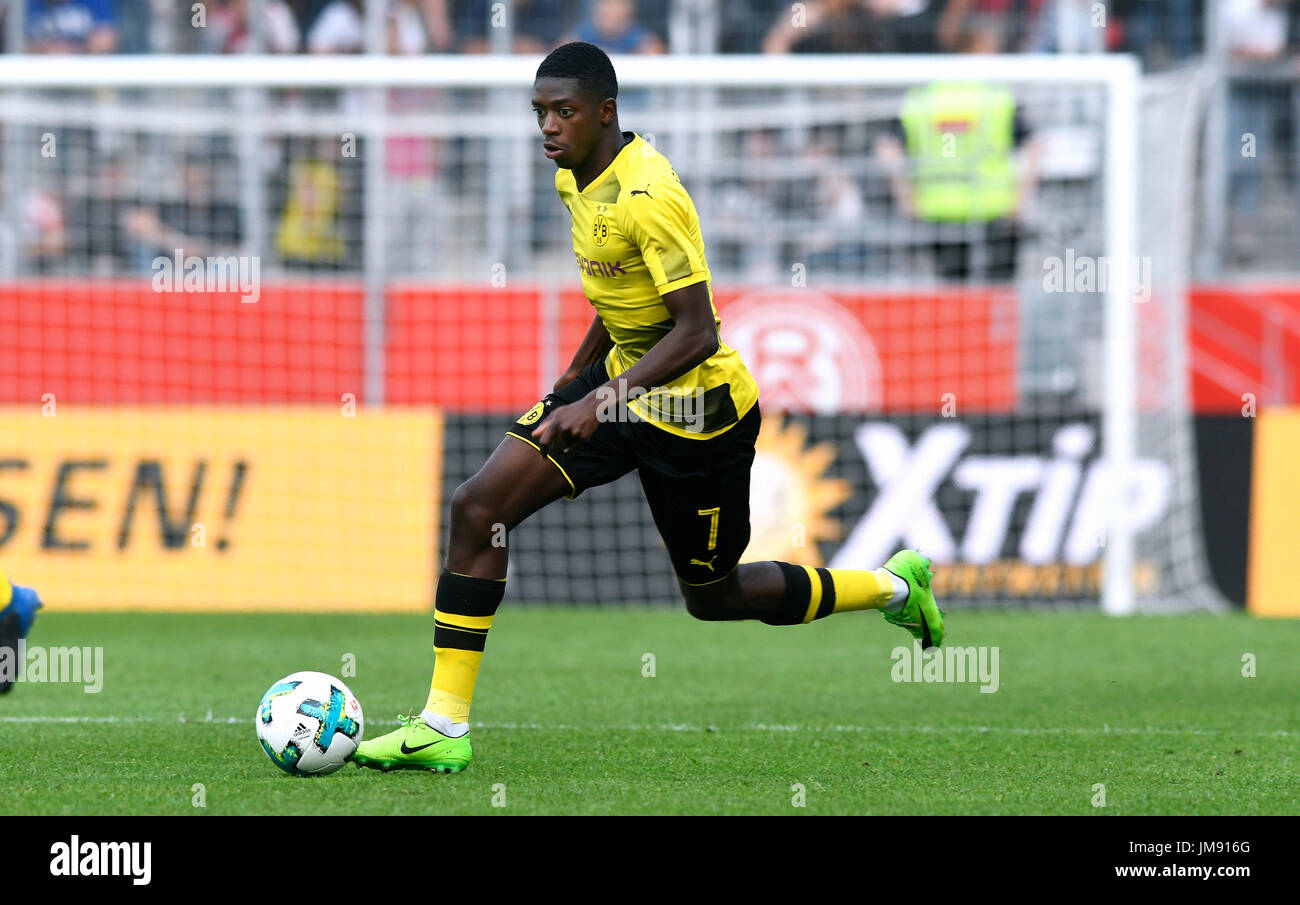 Friendly match, Rot-Weiss Essen vs Bor. Dortmund; Ousmane Dembele from Borussia Dortmund. - Stock Image