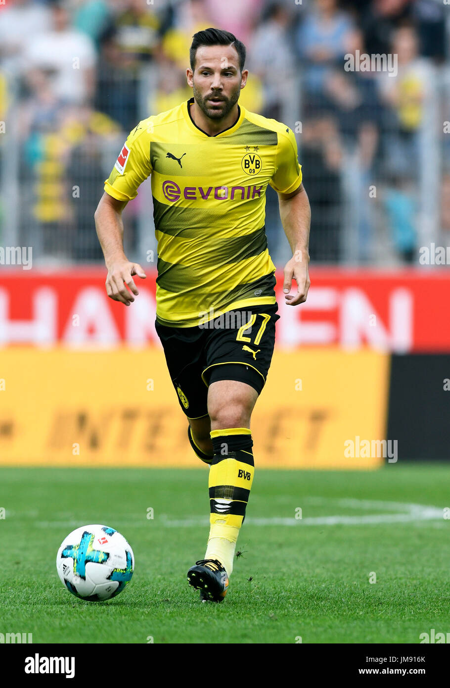 Friendly match, Rot-Weiss Essen vs Bor. Dortmund; Gonzalo Castro from Borussia Dortmund. - Stock Image