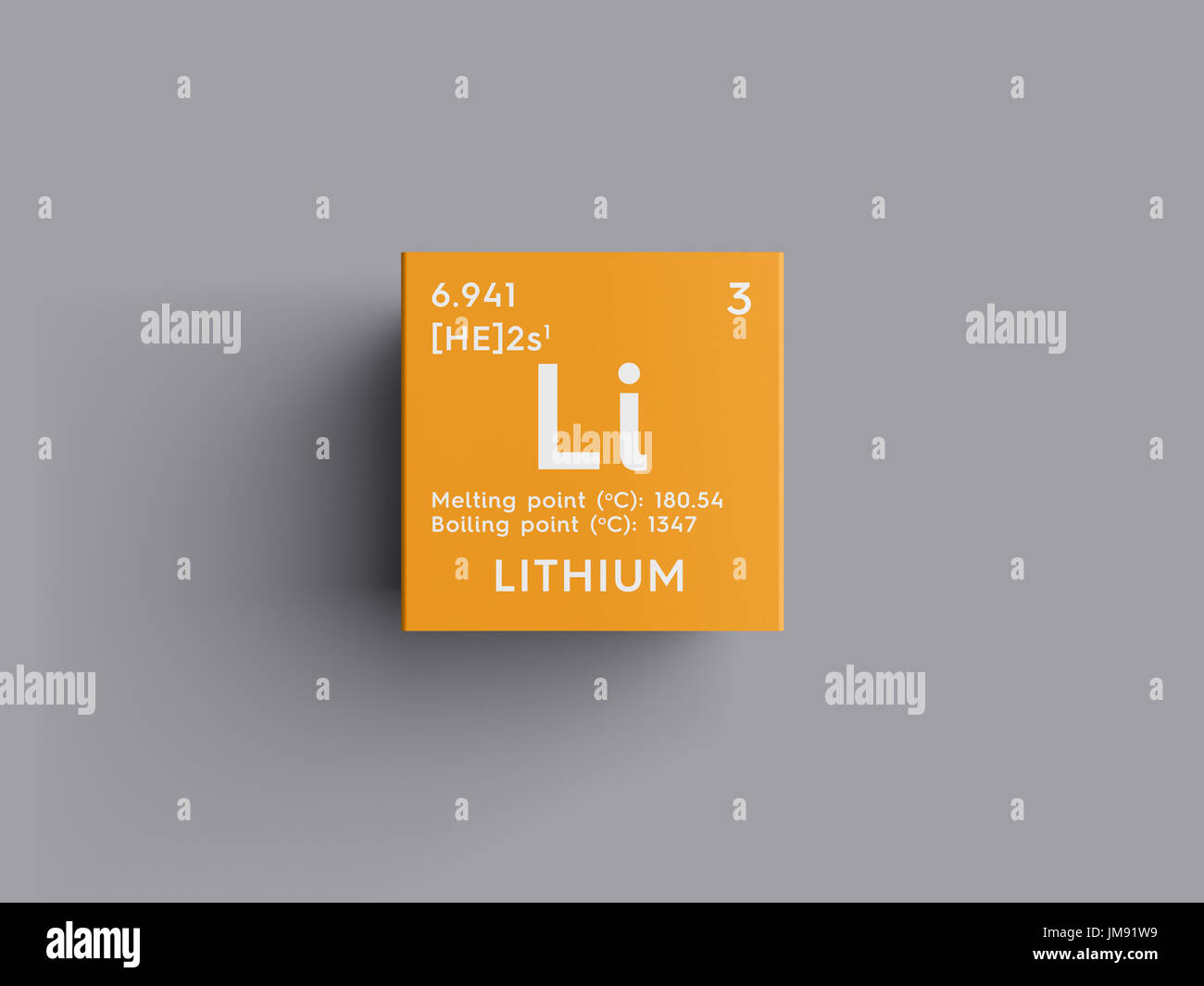 Lithium alkali metals chemical element of mendeleevs periodic lithium alkali metals chemical element of mendeleevs periodic table lithium in square cube creative concept urtaz Image collections