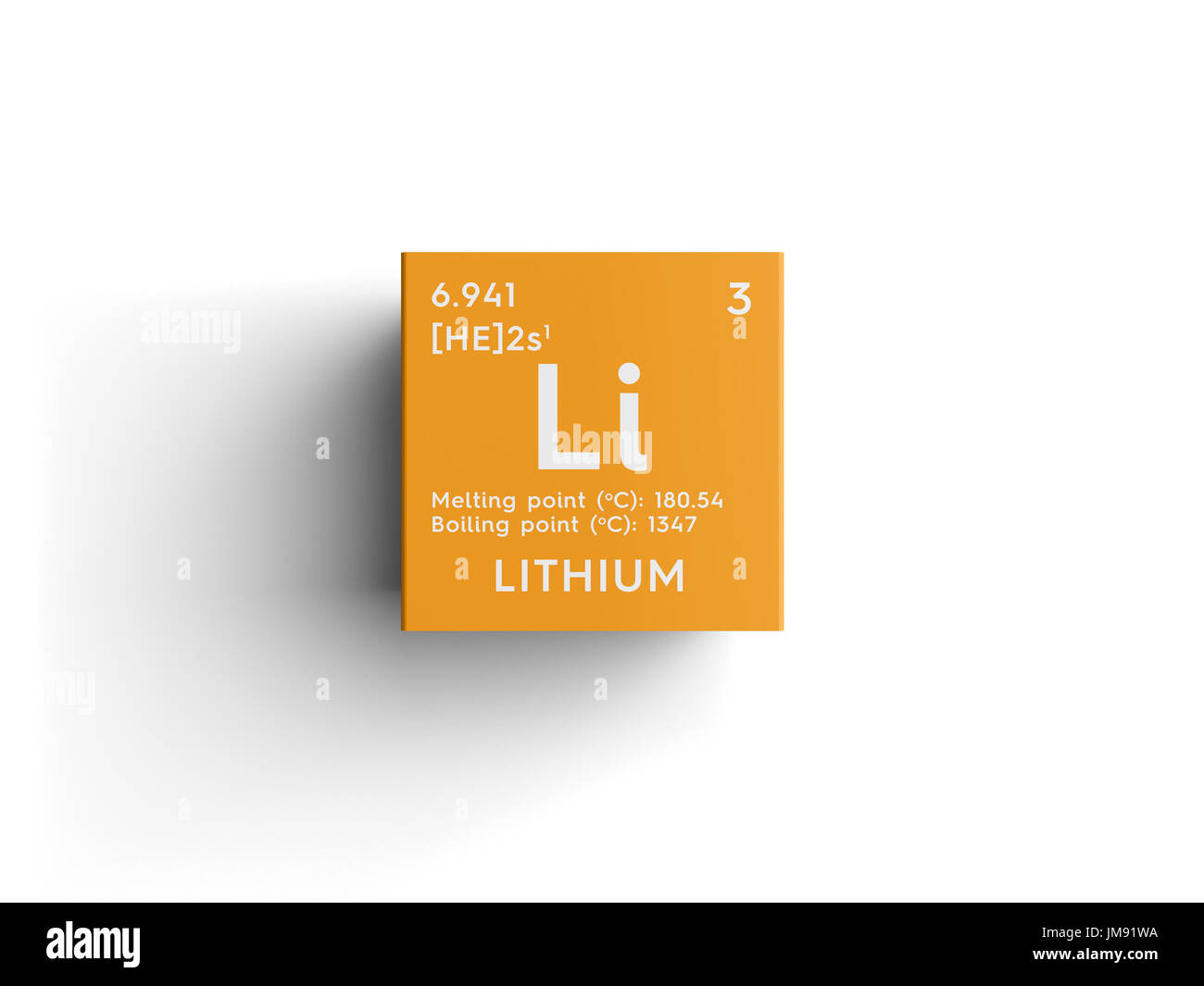 Lithium alkali metals chemical element of mendeleevs periodic lithium alkali metals chemical element of mendeleevs periodic table lithium in square cube creative concept urtaz Choice Image