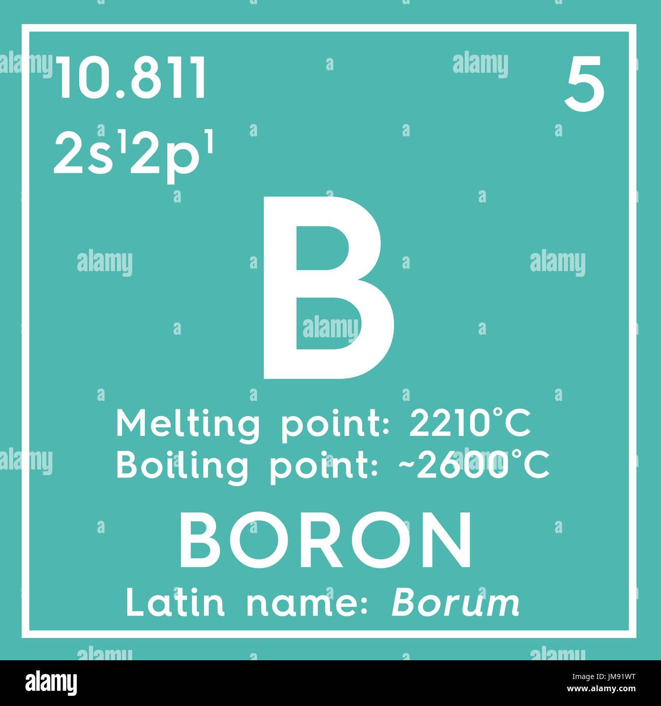Boron metalloids chemical element of mendeleevs periodic table chemical element of mendeleevs periodic table boron in square cube creative concept urtaz Choice Image