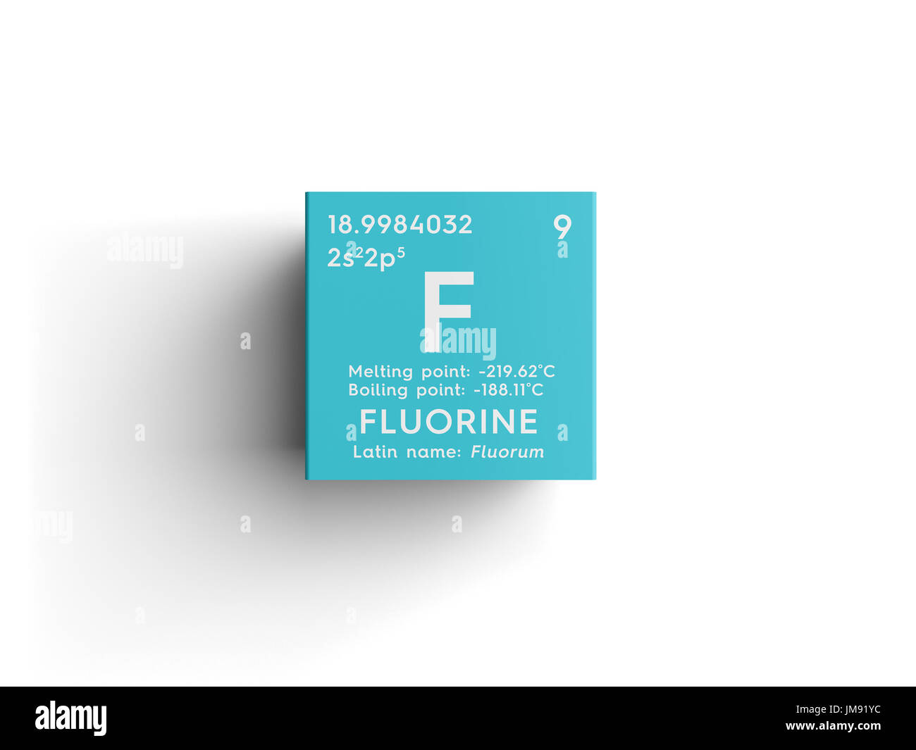 Halogens stock photos halogens stock images alamy halogens chemical element of mendeleevs periodic table fluorine in square cube creative urtaz Choice Image