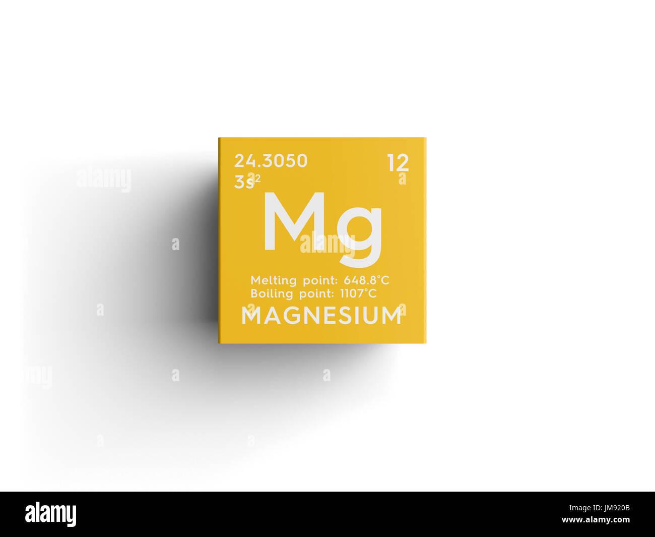 Magnesium alkaline earth metals chemical element of mendeleevs magnesium alkaline earth metals chemical element of mendeleevs periodic table in square cube creative concept urtaz Images