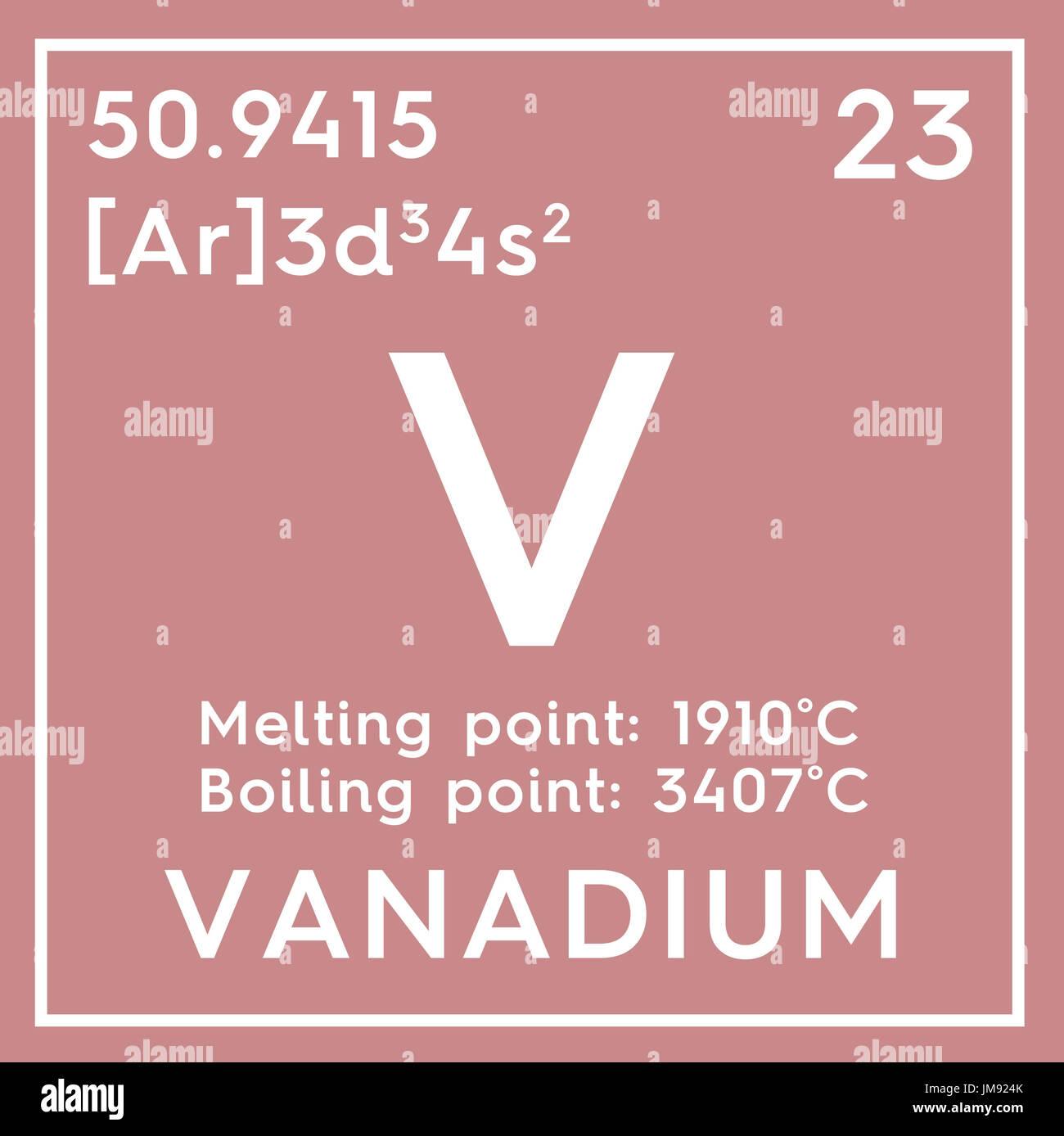 Vanadium transition metals chemical element of mendeleevs vanadium transition metals chemical element of mendeleevs periodic table vanadium in square cube creative concept urtaz Choice Image