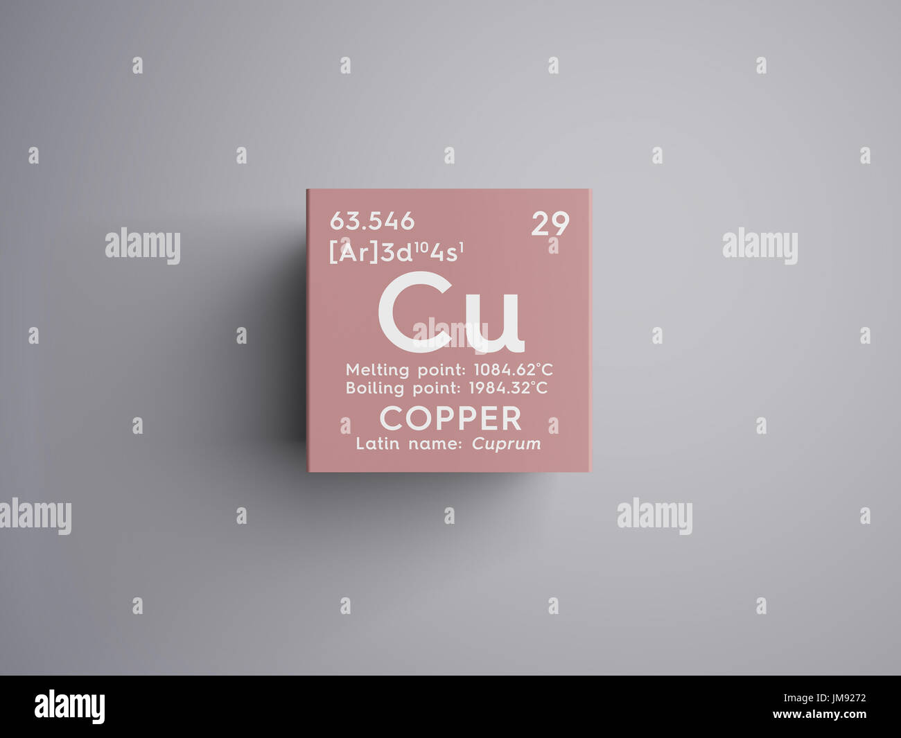 Copper cuprum transition metals chemical element of mendeleevs copper cuprum transition metals chemical element of mendeleevs periodic table copper in square cube creative concept urtaz Image collections