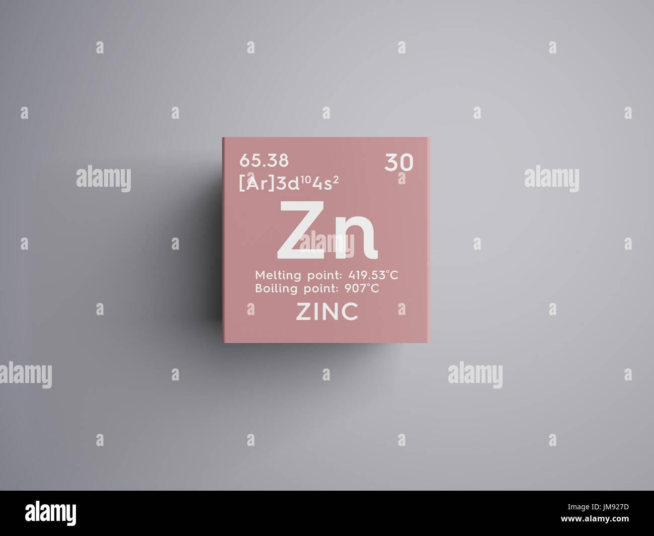 Zinc transition metals chemical element of mendeleevs periodic transition metals chemical element of mendeleevs periodic table zinc in square cube creative concept urtaz Choice Image