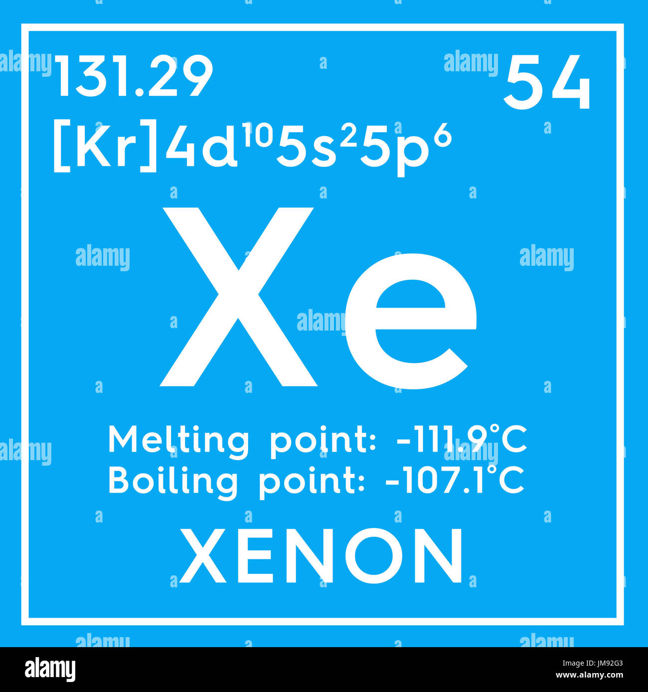 Xenon noble gases chemical element of mendeleevs periodic table noble gases chemical element of mendeleevs periodic table xenon in square cube creative concept urtaz Choice Image