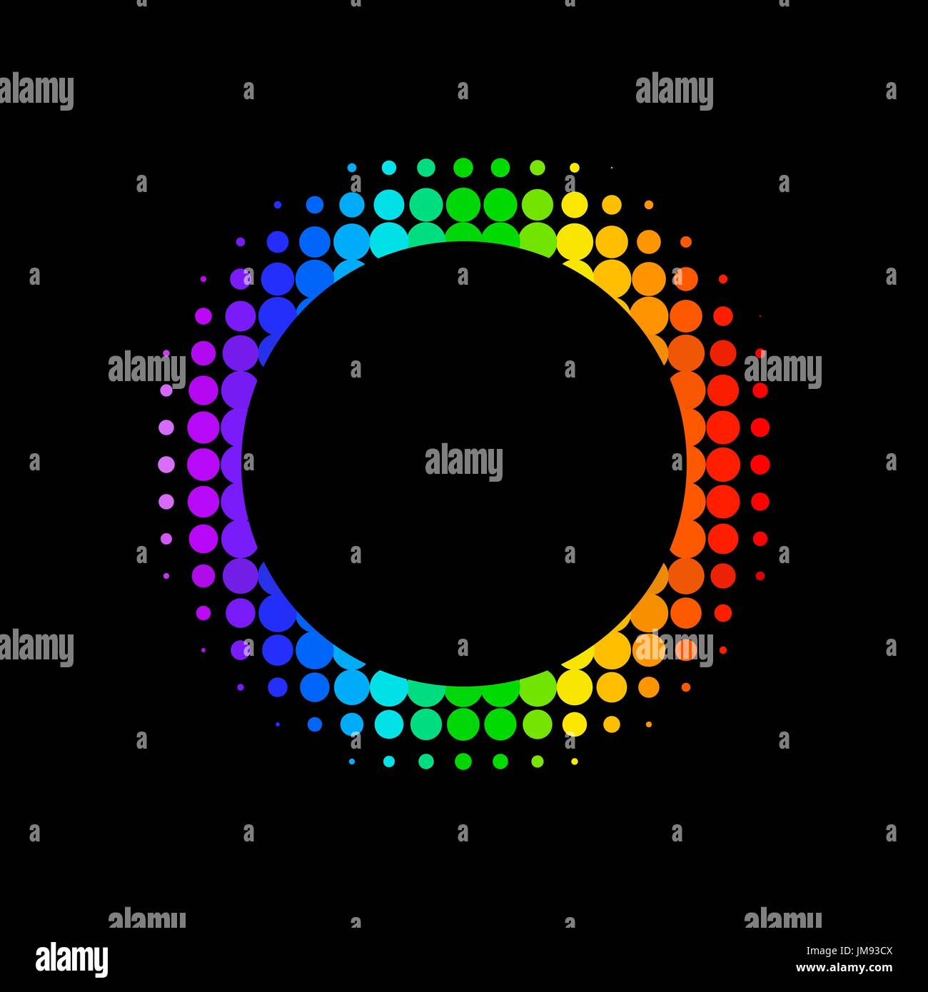 vector color dot background. abstract  halftone background - Stock Image