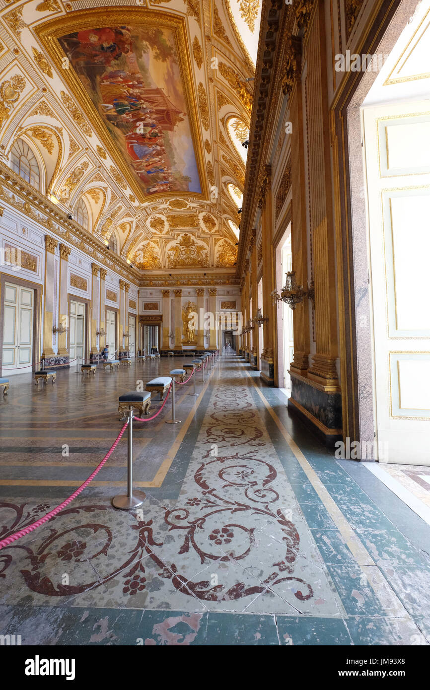 The throne room, Royal Palace of Caserta (reggia di caserta),Caserta,Campania,Italy Stock Photo