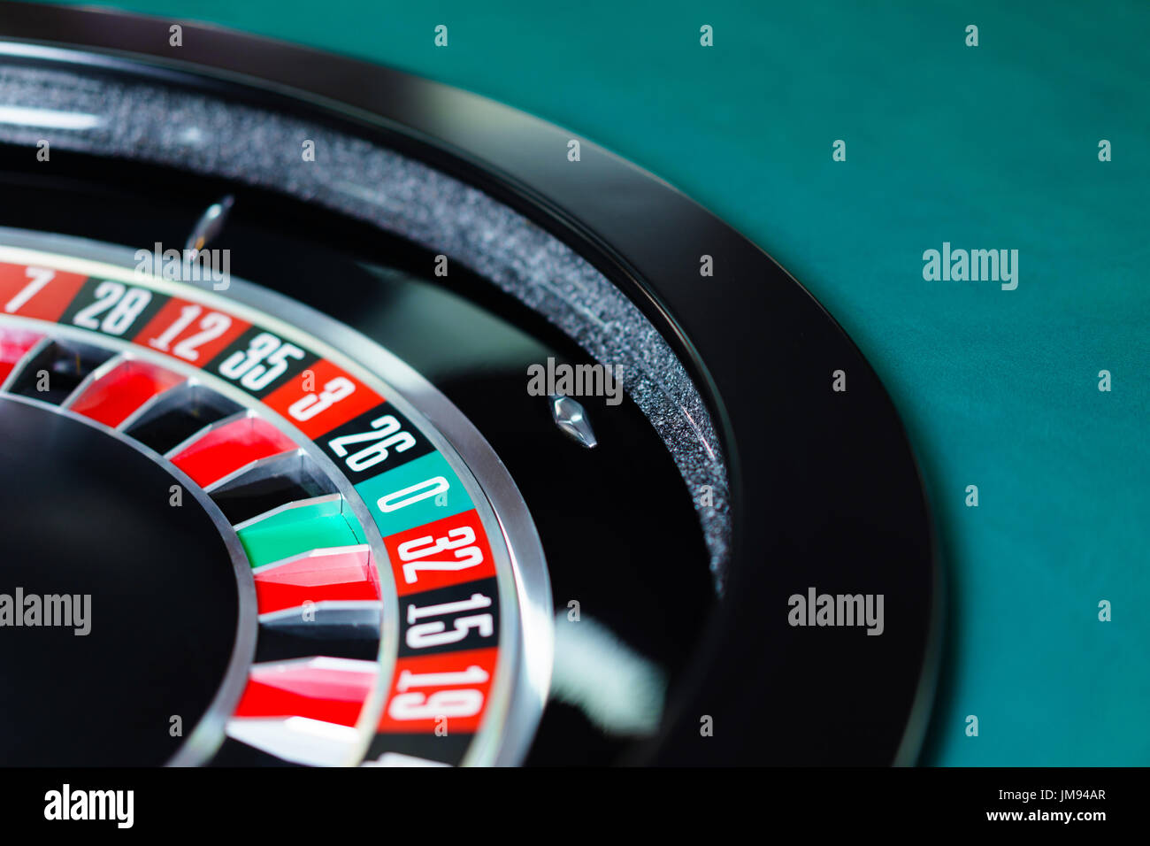 Casino Roulette wheel - Stock Image