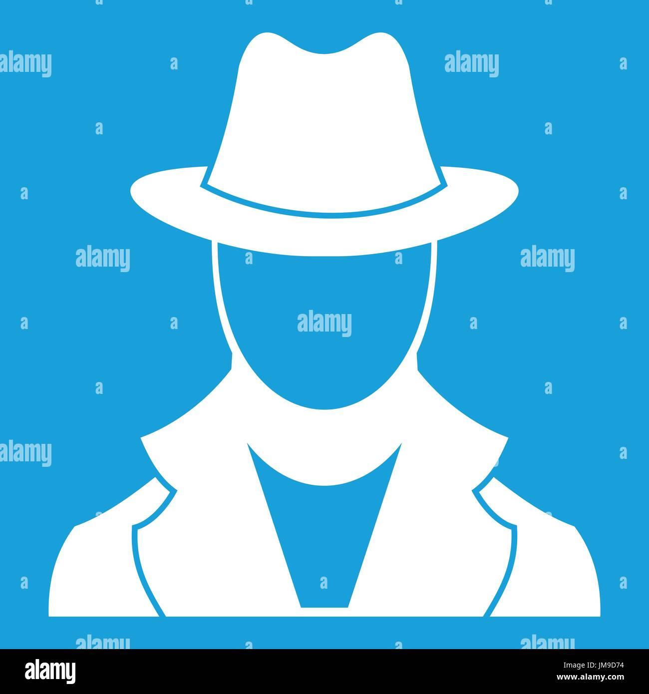 Spy icon white - Stock Vector