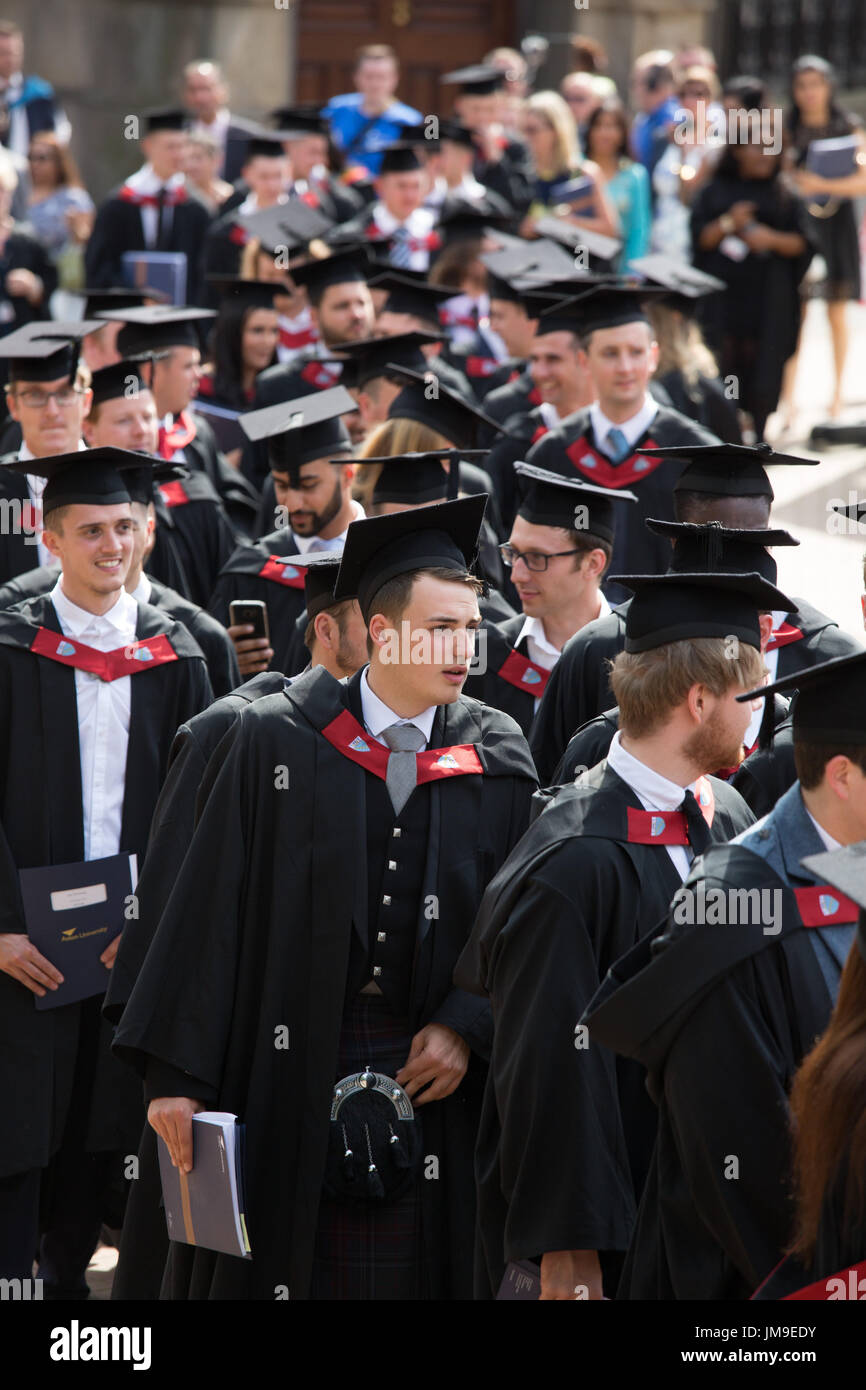 Aston University Students graduation day in Birmingham. England, UK - Stock Image