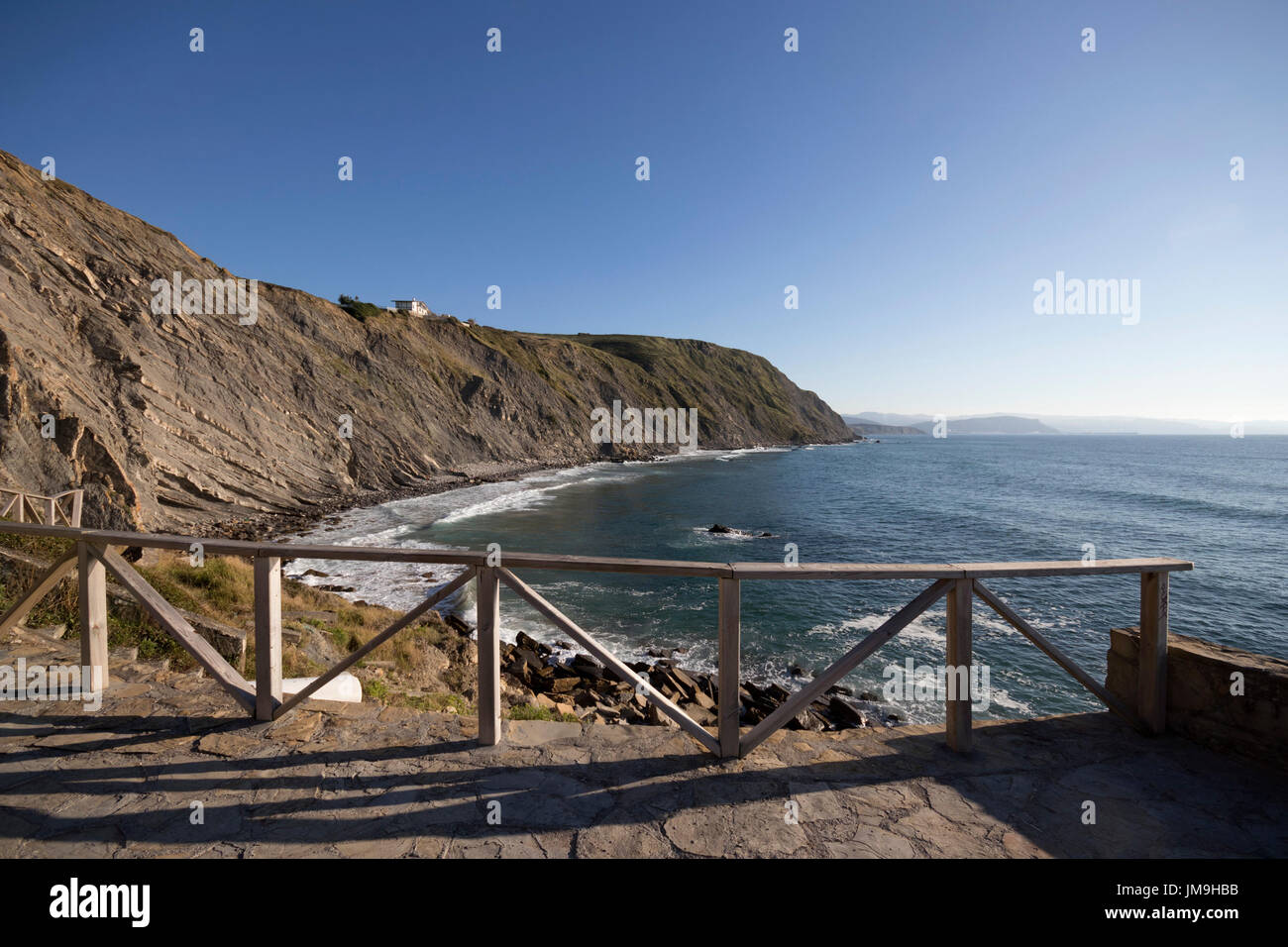 Viewpoint of the Barrika cliff (Bizkaia, Euskadi, Spain). - Stock Image