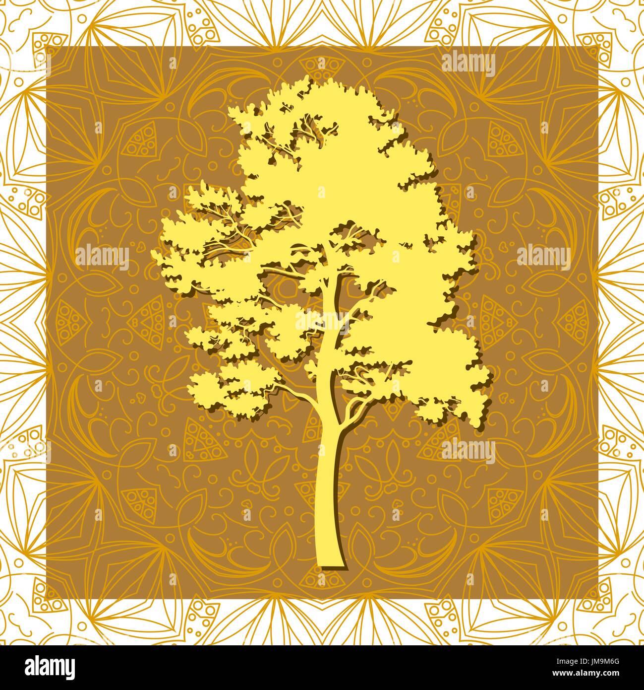 Pine Tree Silhouettes - Stock Vector