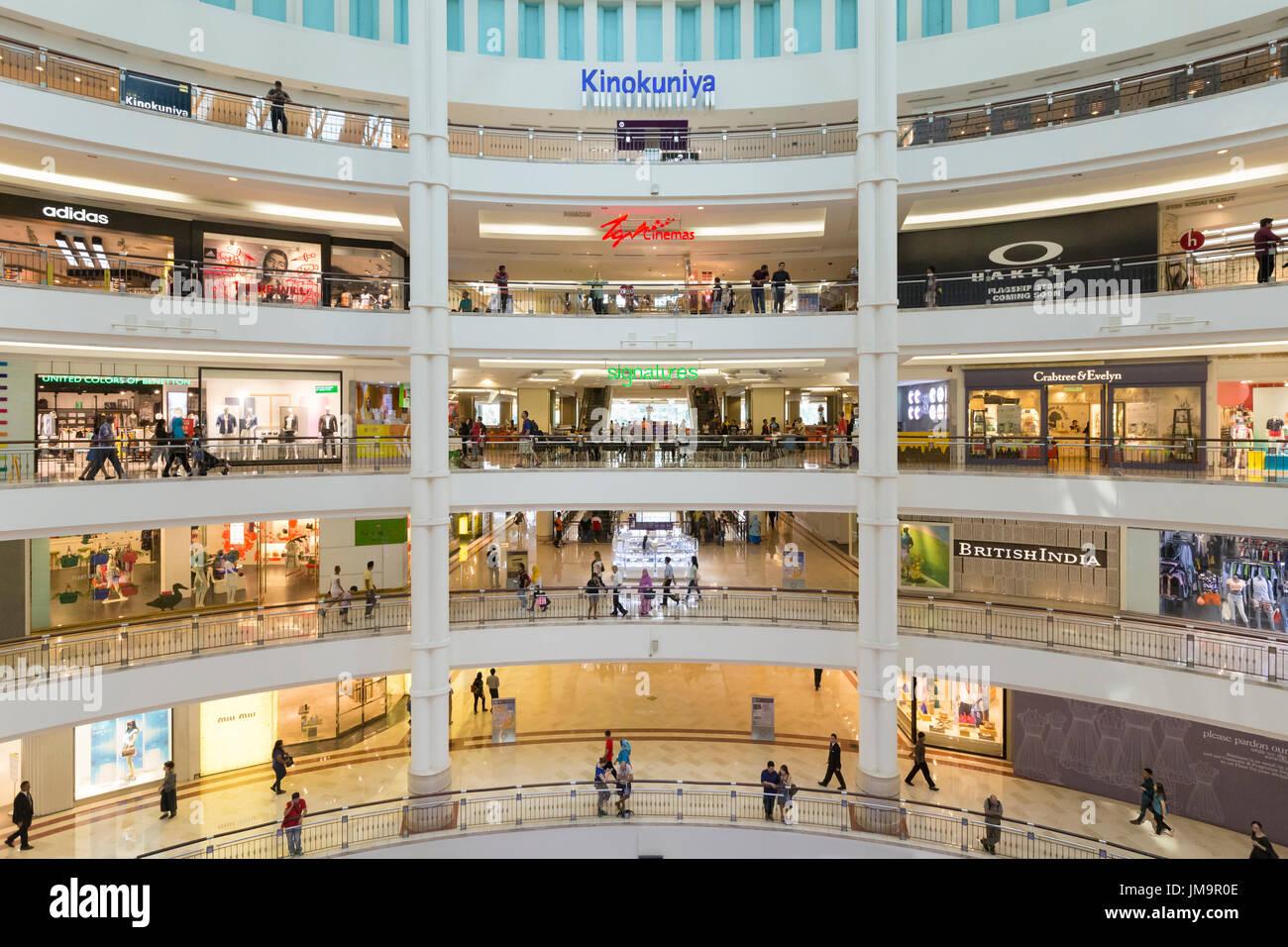 Suria KLCC Shopping Mall Interior, Kuala Lumpur, Malaysia - Stock Image