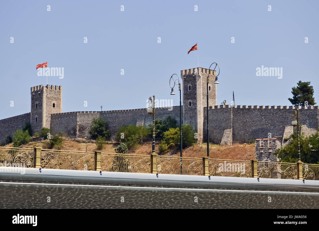 Fortress in Skopje dating from the time of the Ottoman empire - Stock Image