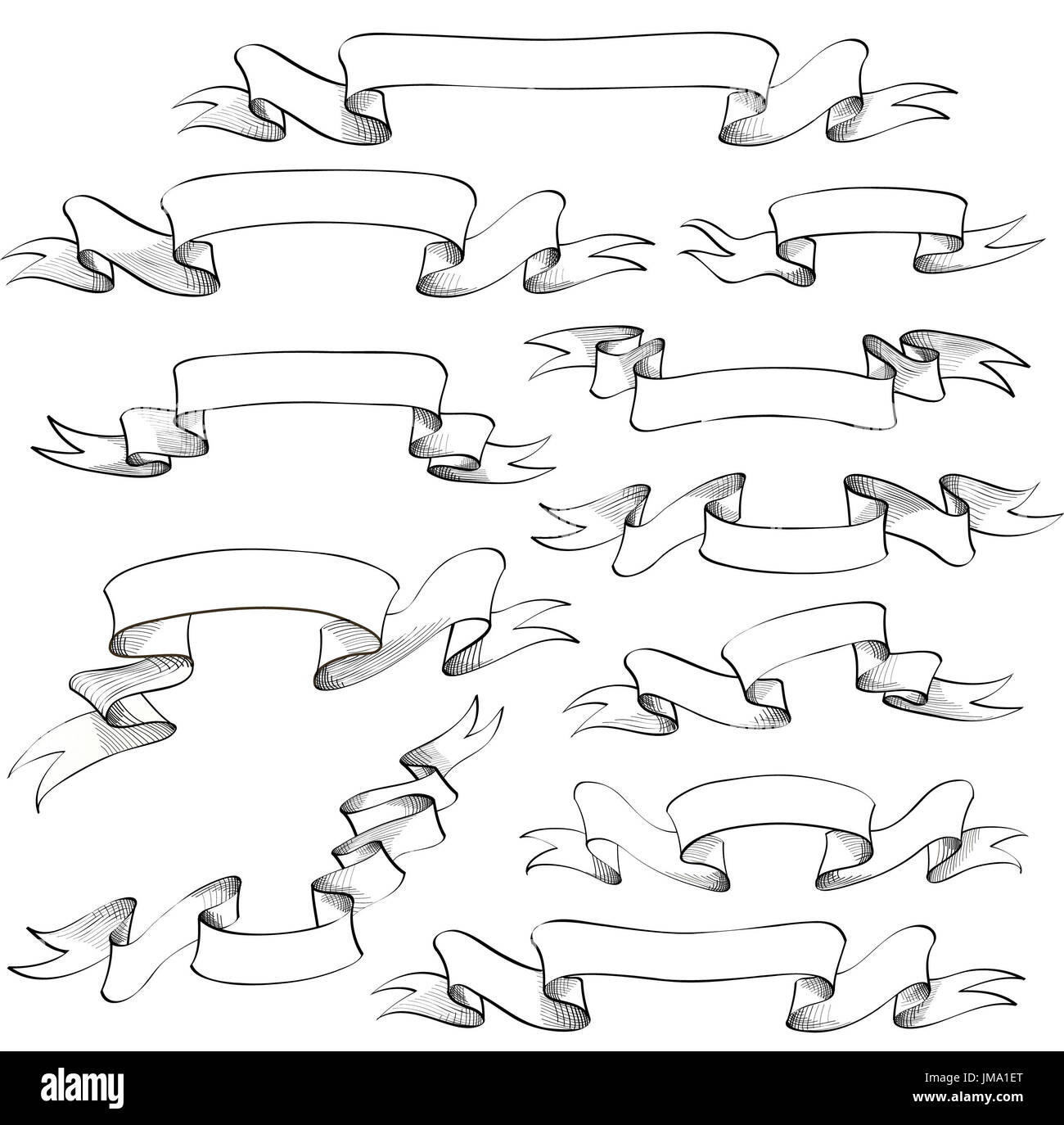 Scroll Banner Hand Drawn High Resolution Stock Photography And Images Alamy