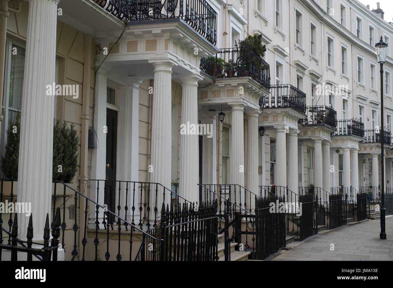 Terraced houses across the UK - Stock Image
