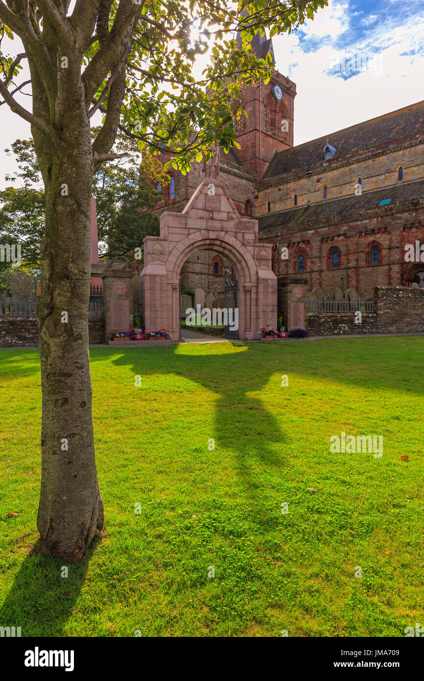 St Magnus Cathedral, Kirkwall city, Orkney Mainland, Scotland, United Kingdom - Stock Image