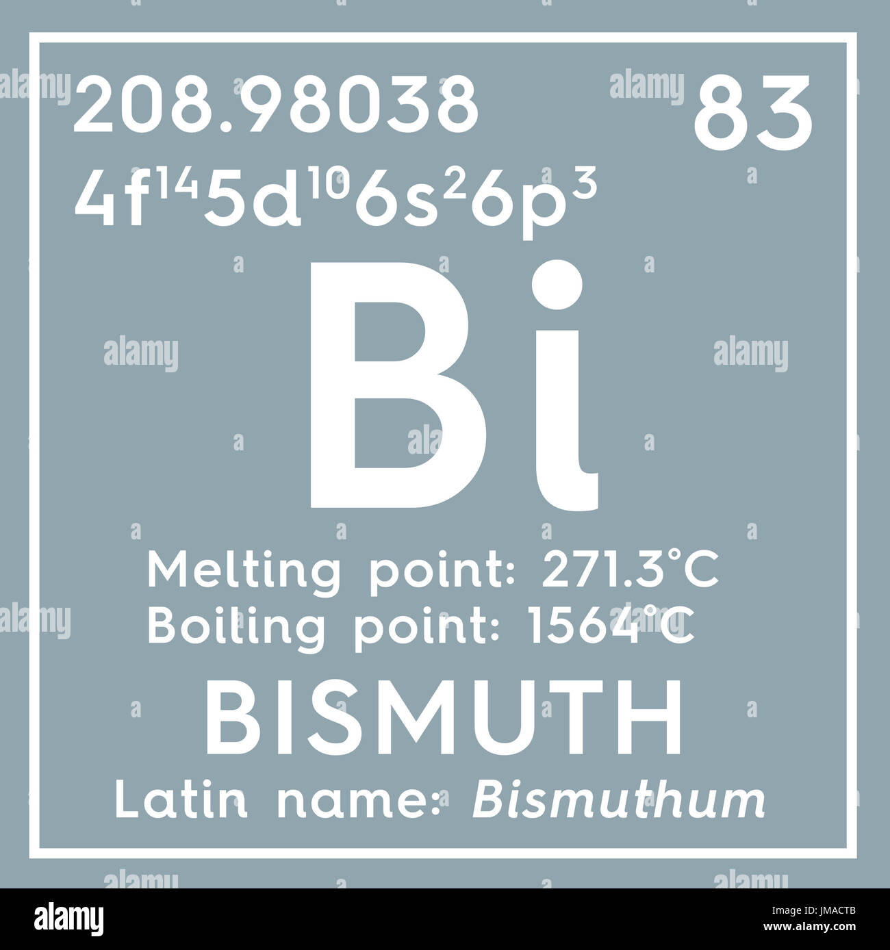 Bismuth bishmuthum post transition metals chemical element of bismuth bishmuthum post transition metals chemical element of mendeleevs periodic table bismuth in square cube creative concept urtaz Choice Image