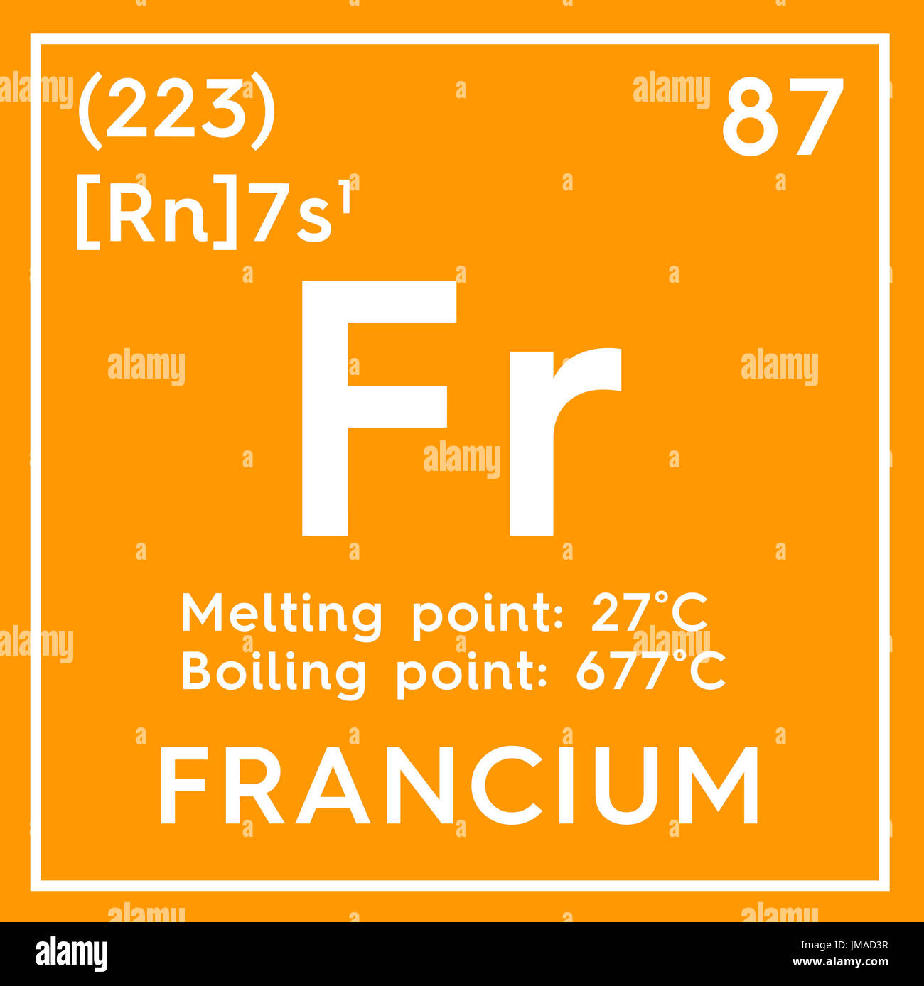 Francium alkali metals chemical element of mendeleevs periodic alkali metals chemical element of mendeleevs periodic table francium in square cube creative concept urtaz Image collections