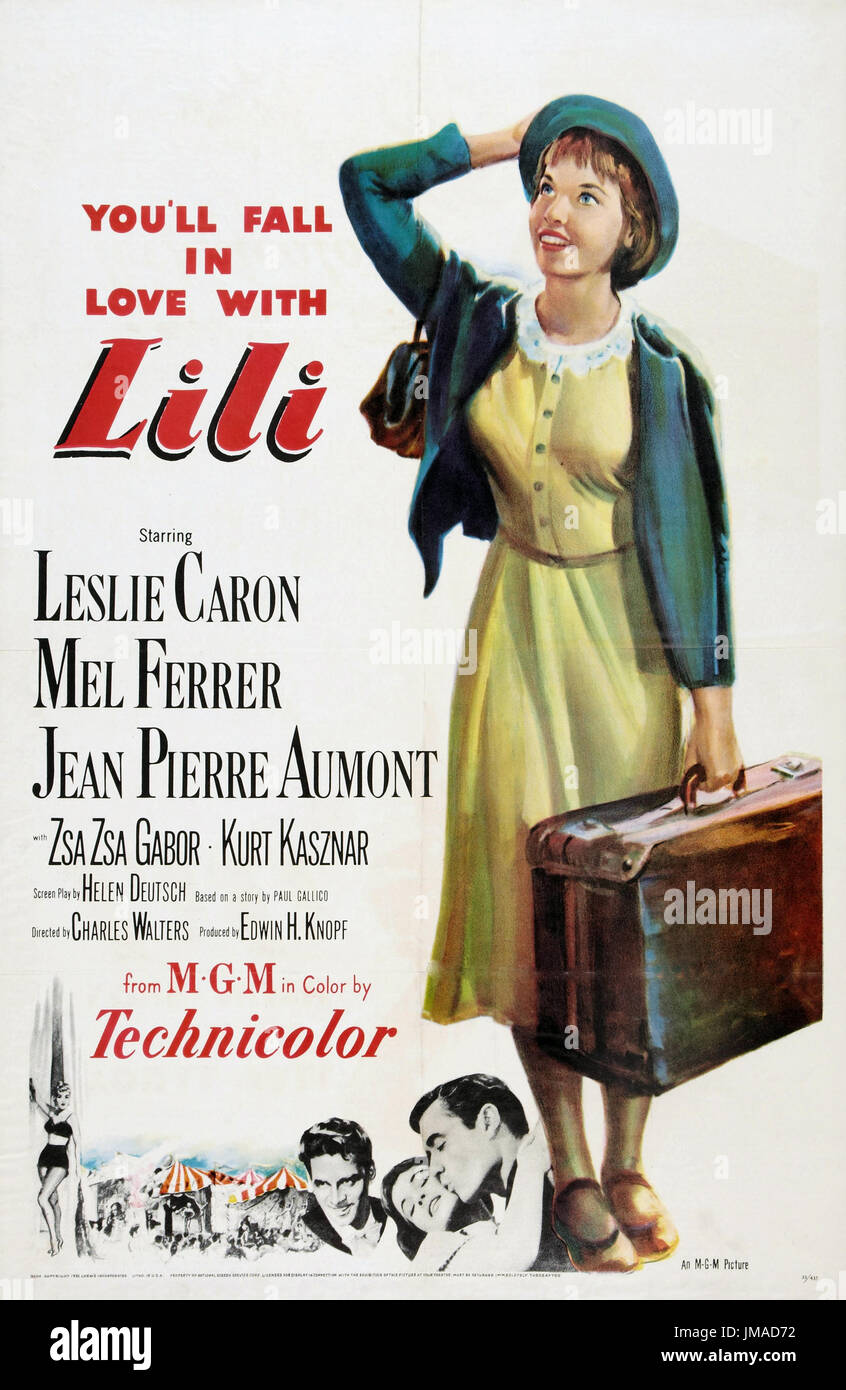 LILI 1953 MGM film with Leslie Caron - Stock Image