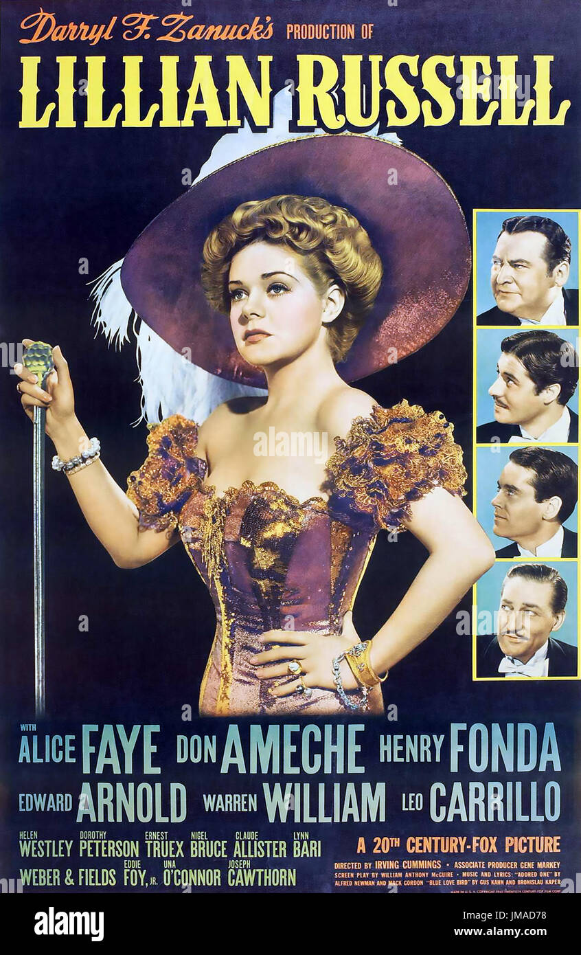 LILLIAN RUSSELL 1940 20th Century Fox film with Alice Faye - Stock Image