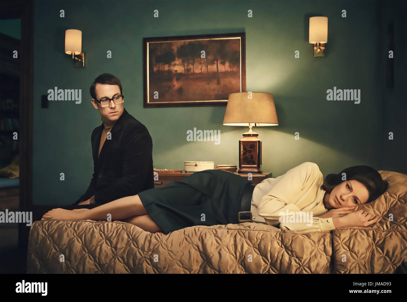 OUTLANDER Tall Ship TV series 2014> with Caitriona Balfe and Tobias Menzies - Stock Image