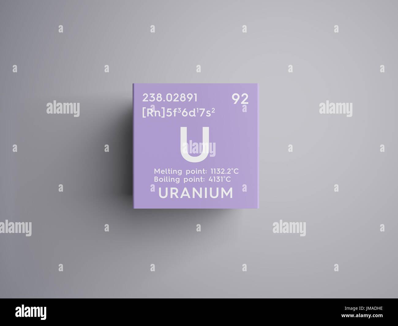 Uranium actinoids chemical element of mendeleevs periodic table uranium actinoids chemical element of mendeleevs periodic table uranium in square cube creative concept urtaz Choice Image