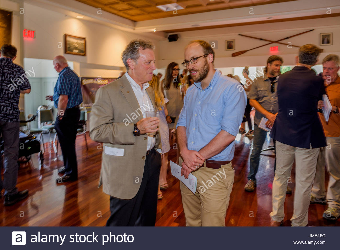 Vancouver, Canada. 26th July, 2017. British Columbia's Environment Minister, George Heyman, attends the Celebration of Life for revered environmentalist and Wilderness Committee Director Gwen Barlee who passed away on June 21, 2017. Credit: Michael Wheatley/Alamy Live News - Stock Image