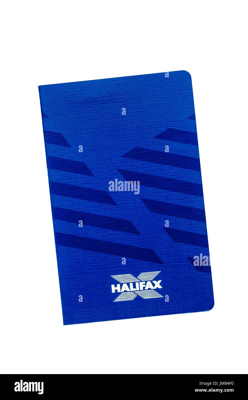 Building Society passbook. Halifax Building Society. Premium Xtra Savings Account. 1993-1994. - Stock Image