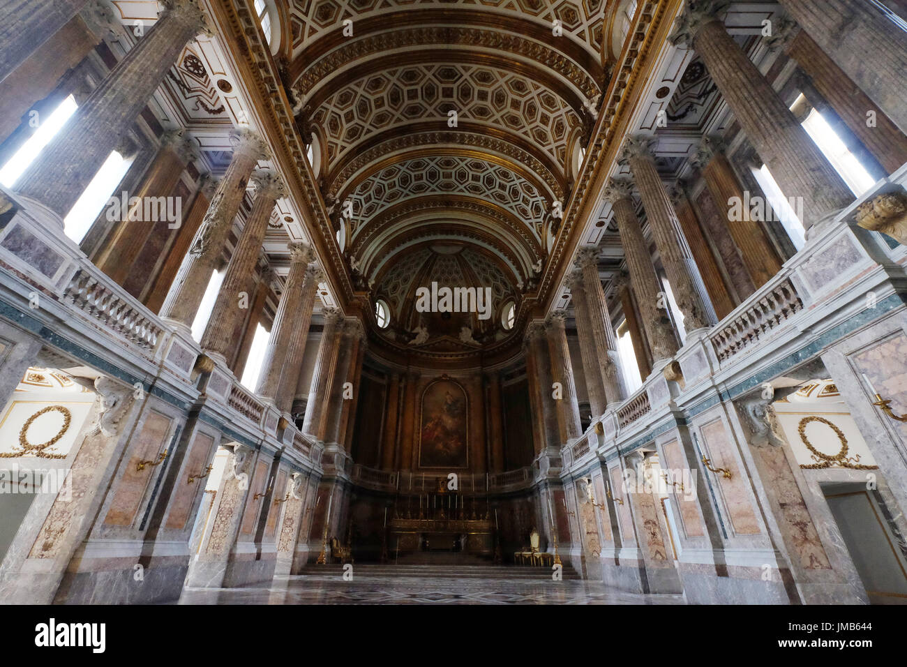 The Palatine Chapel in Royal Palace of Caserta, Campania, Italy Stock Photo