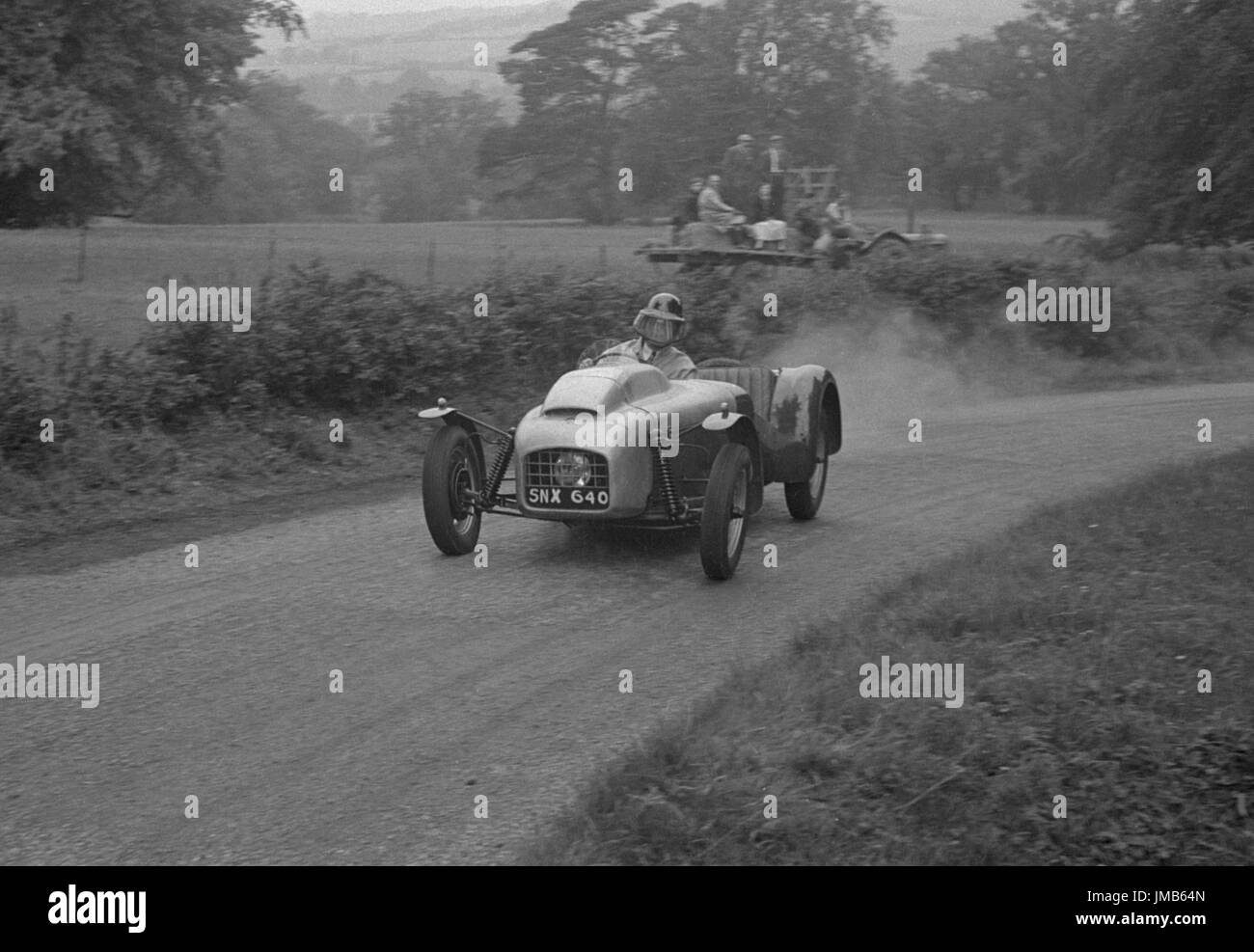 Lotus 6 BMW engine, Perkins. Westbrook Hay speed hillclimb 21.7.56 - Stock Image
