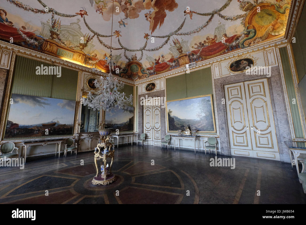 The room of Spring, Royal Palace of Caserta, Campania, Italy Stock Photo